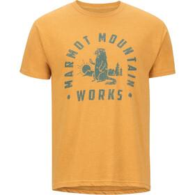 Marmot Chordata T-shirt Heren, aztec gold heather